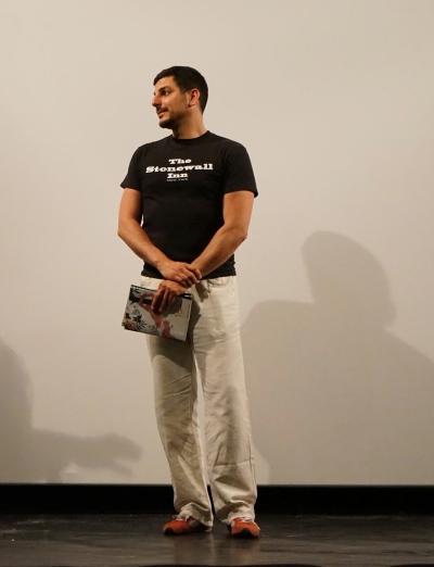 Benoît Arnulf en el festival In&Out 2015 presentando el Premio Sebastiane.