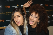 Sana Jammalieh y Mouna Hawa actrices da Bar bahar/ In Between