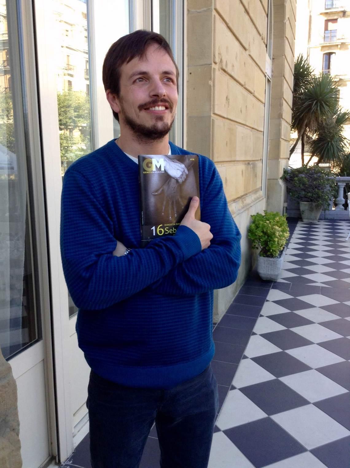 Marco Berger en San Sebastián 2015 cuando recibió su Sebastiane Latino